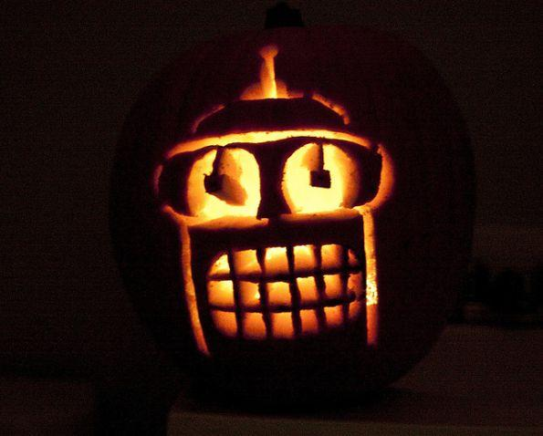 pumpkin carvings futurama bender 2