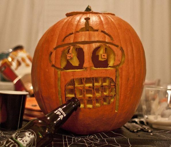 pumpkin carvings futurama bender 3