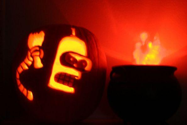 pumpkin carvings futurama bender 5