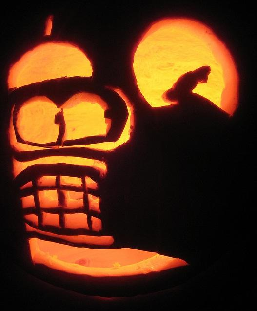 pumpkin carvings futurama bender 6