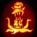 pumpkin carvings the simpsons alien 1