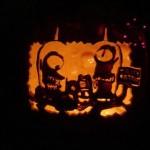 pumpkin carvings the simpsons alien 2