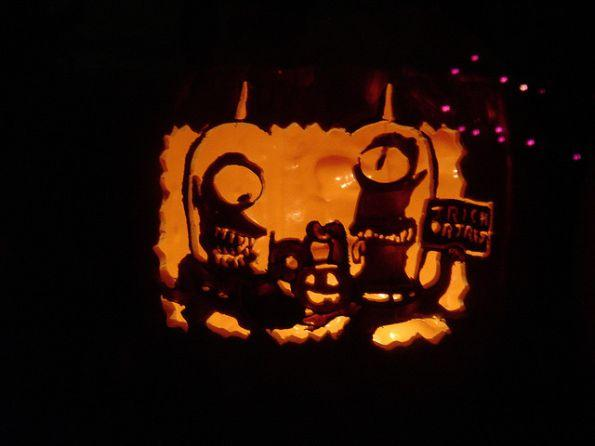 pumpkin carvings the simpsons alien 2