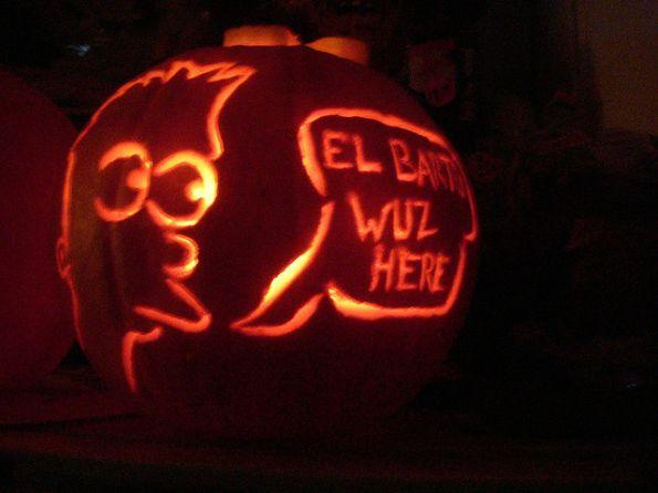 pumpkin carvings the simpsons bart simpson 2
