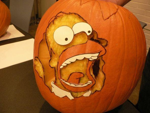 pumpkin carvings the simpsons homer simpson 1