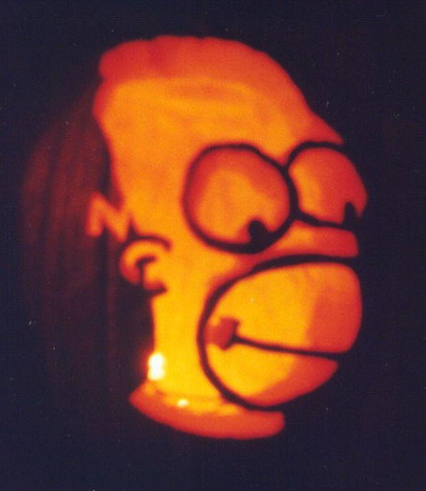 pumpkin carvings the simpsons homer simpson 3