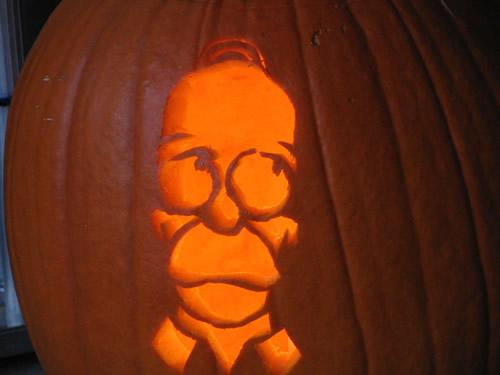 pumpkin carvings the simpsons homer simpson 4