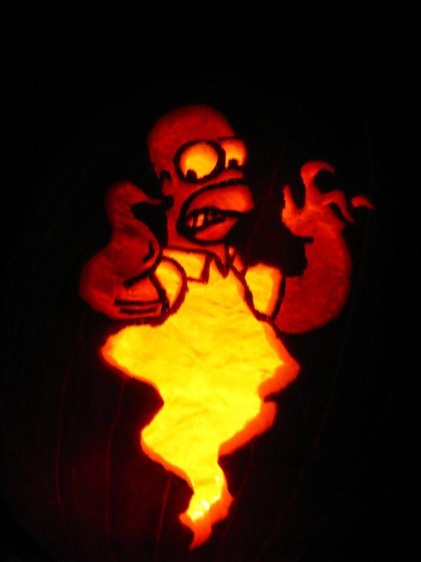 pumpkin carvings the simpsons homer simpson 6