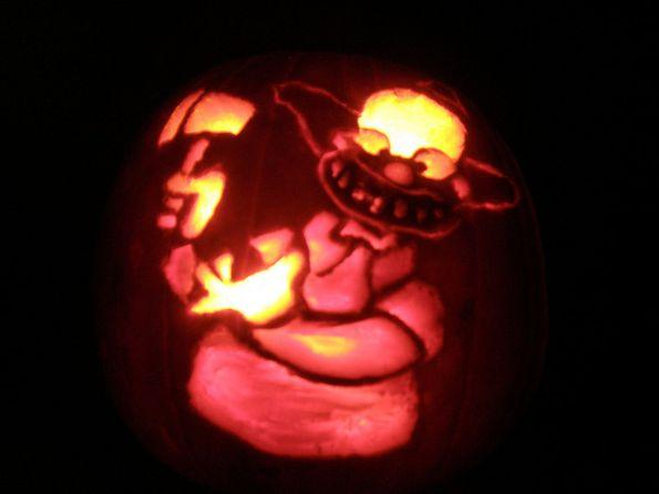 pumpkin carvings the simpsons krusty the clown 1