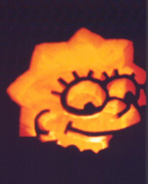 pumpkin carvings the simpsons lisa simpson 1
