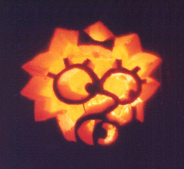 pumpkin carvings the simpsons maggie simpson 1