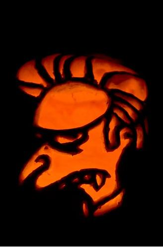 pumpkin carvings the simpsons montgomery burns vampire 1