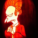 pumpkin carvings the simpsons montgomery burns vampire 3