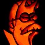pumpkin carvings the simpsons ned flanders devil 1