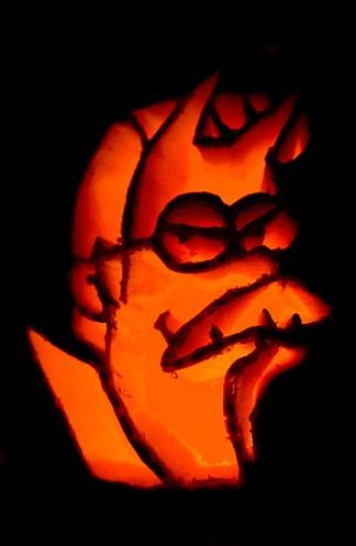 pumpkin carvings the simpsons ned flanders devil 1