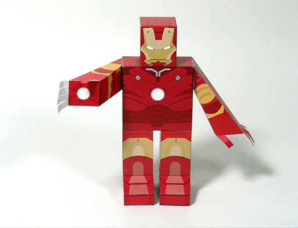 iron man and monger paper toy walyou