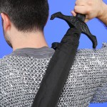 Knight Sword Handle Umbrella back