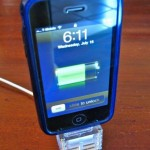 iPhone Stand Made of Laser Cut Acrylic Scarps