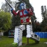 optimus prime statue life sized halloween 2010