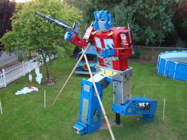 optimus prime transformers life sizes statue halloween
