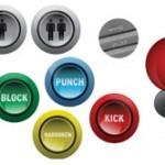 Arcade Button Magnets