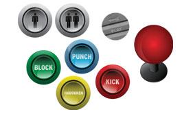 Arcade Button Magnets 2