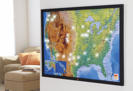The Very First Interactive LED Map Walyou