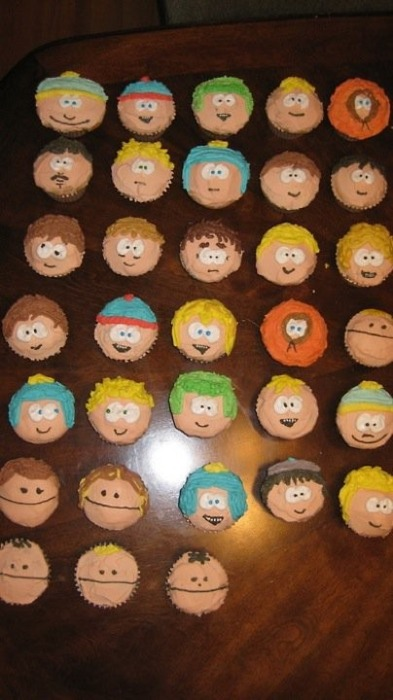 South Park Themed Cupcakes
