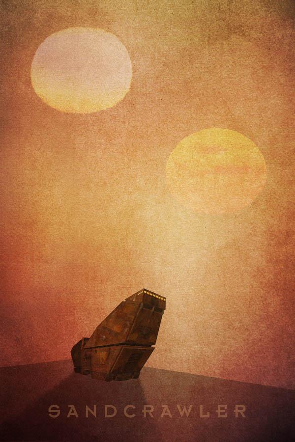 Star Wars Sandcrawler Poster
