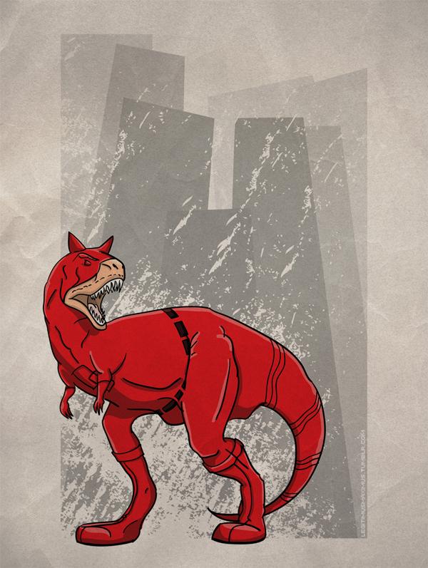 Superhero Dinosaur - Carnotaurus Daredevil