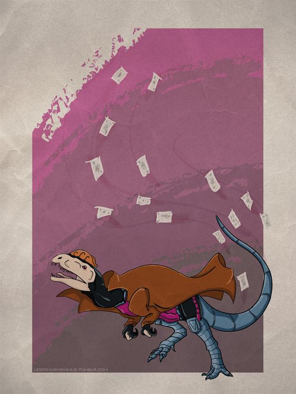 Superhero Dinosaur - Dilophosaurus Gambit