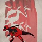 Superhero Dinosaur – Pachycephalosaurus Deadpool