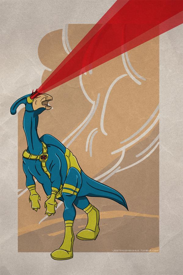 Superhero Dinosaur - Parasaurolophus Cyclops
