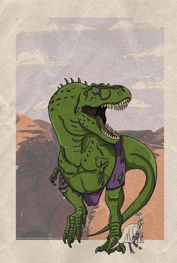 Superhero Dinosaur - Tyrannosaurus Rex Hulk