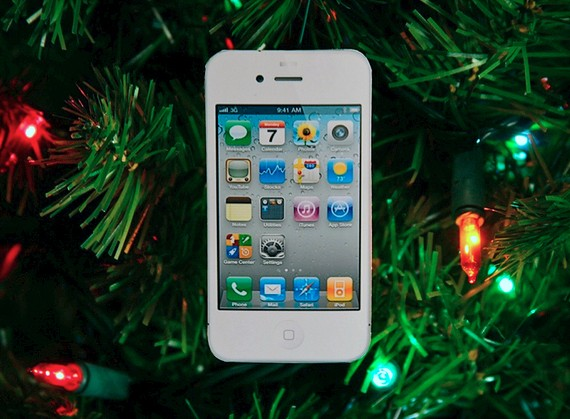 White iPhone Ornament 1