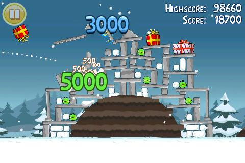 angry birds christmas iphone game