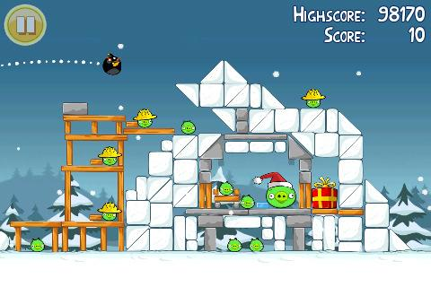 angry birds christmas iphone