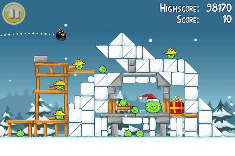angry birds christmas iphone