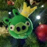 angry birds christmas ornaments green pig