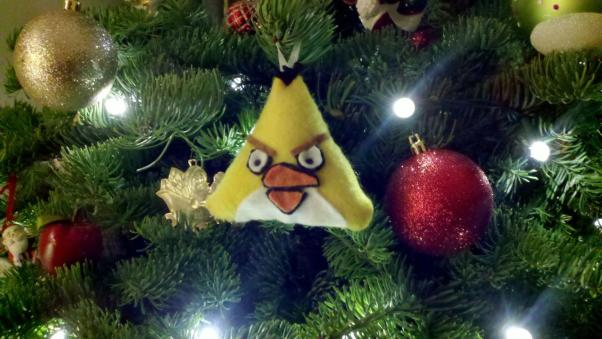 angry birds christmas ornaments red bird