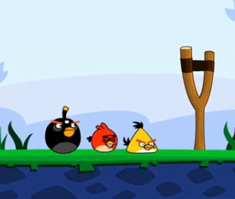 angry birds funny strategy video