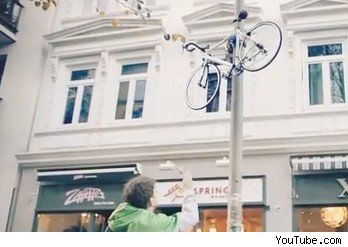 Bike Up a Lamp Post