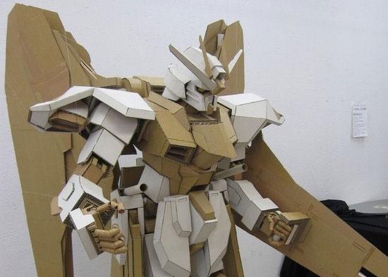 first cardboard gundam