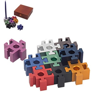 chanuka menorah puzzle set