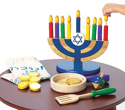 chanuka menorah wood menorah set