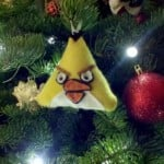 christmas ornaments angry birds yellow