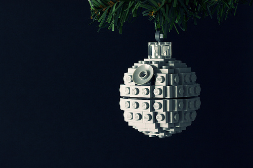 christmas ornaments death star lego ball