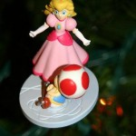 christmas ornaments princess peach character