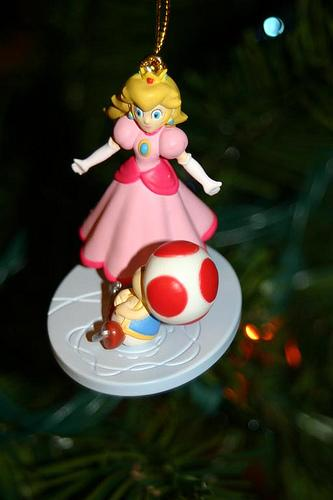 christmas ornaments princess peach character