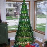 christmas tree beer bottle tree